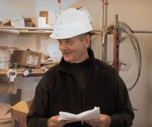 Bill Murray turned up on a building site to read poetry to a group of