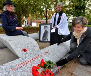 Ceremony for memorial of Shropshire poet Wilfred Owen