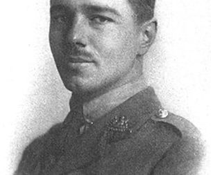 First World War poet Wilfred Owen, treated for shell shock