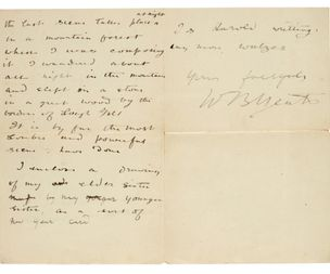 Letters written by a young WB Yeats fetch nearly £50k at auction