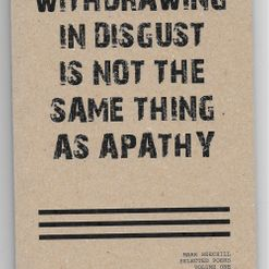 Mark Beechill - Withdrawing In Disgust Is Not The Same Thing As Apathy