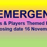 Poets and Players Prize Reemergence - November 16th